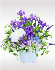 flowers: Flower Vase   Hydrangea and Irises!