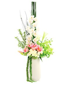 flowers: Flower Vase   Rose and Lily Mix!