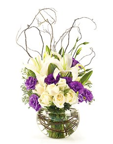 flowers: Flower Vase   Lilies and Roses Mix!