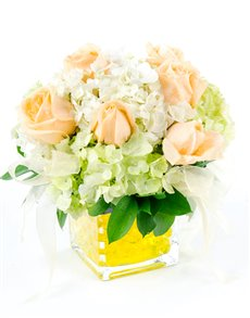flowers: Flower Vase   Hydrangea and Rose Mix!