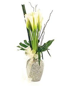 flowers: Flower Vase   10 Calla Lilies!