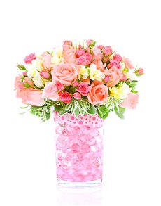 gifts: Flower Vase   Pastel Roses Mix!