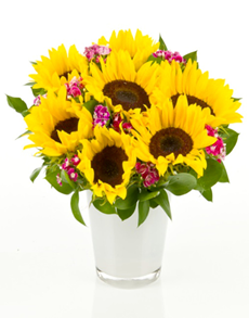 gifts: Flower Vase   Cheerful Sunflowers!