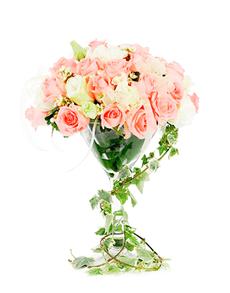 flowers: Flower Vase Pink Rose Mix!