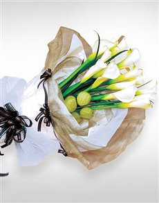 flowers: Calla Lily Hand Bouquet!