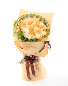 flowers: Rosy Warmth Hand Bouquet!