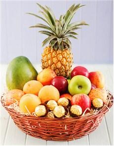 gifts: Fresh Fruit and Ferrero Chocolate Basket!