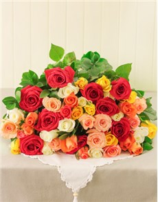 flowers: Mixed Roses!