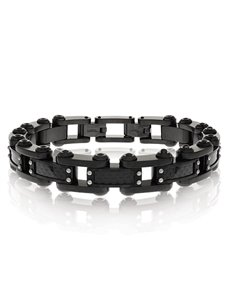 jewellery: ARZ Steel Black Futuristic Mens Bracelet!