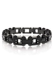 jewellery: ARZ Steel Bracelet SSB88BK!