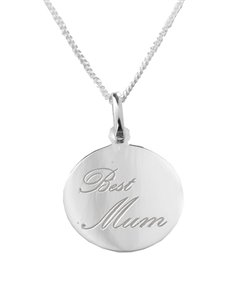 jewellery: Sterling Silver Best Mom Necklace!