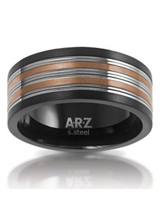 jewellery: ARZ Steel Black and Silver Ring!