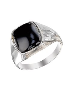 jewellery: Sterling Silver Black Onyx Gents Ring !