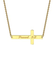jewellery: MeMi Yellow Gold Cross Personalised Necklace!