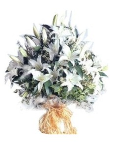 flowers: Porcelain White Bouquet!