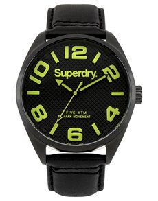 watches: Superdry Gents Military Black Watch SYG192BYA!
