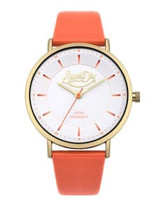 watches: Ladies Superdry Coral And Gold Oxford Watch!