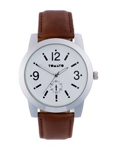 watches: Tomato Gents Brown and Silver Watch!