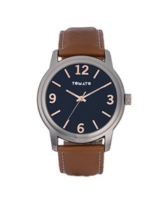 watches: Navy and Brown Tomato Gents Watch!