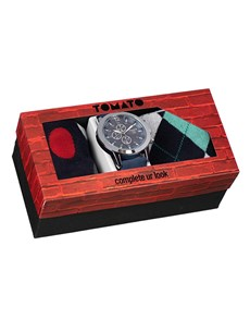 jewellery: Tomato Gents Chronograph Watch and Sock Gift Set!