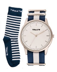 watches: Tomato Gents Watch and Socks Set T139153S!