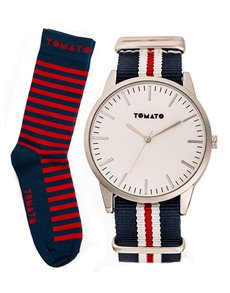 watches: Tomato Gents Watch and Socks Set T139154S!