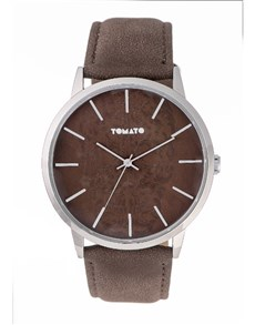 watches: Tomato Brown Etched Skull Dial Watch!
