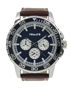 watches: Tomato Gents 48mm Navy And Silver Watch!