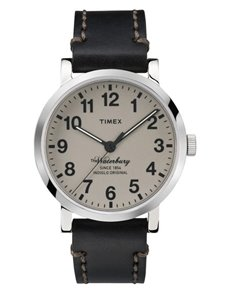 jewellery: Timex Waterbury Collection Black Gents Watch!