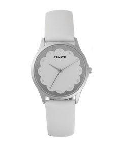 watches: White and Silver Tomato Ladies Watch!