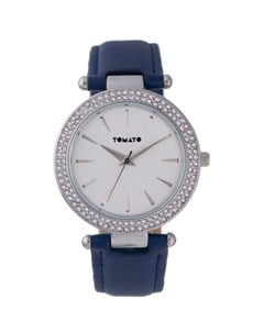 gifts: Tomato Ladies Navy Sparkle Case Watch!
