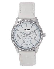 watches: Tomato Ladies White Leather Watch!