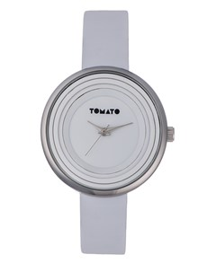 watches: White Circular Tomato Ladies Watch!