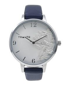 watches: Tomato Ladies 3D Silver Flower Round Watch!