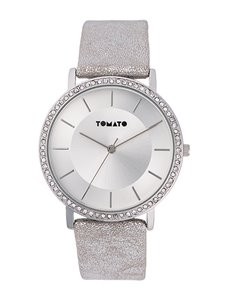 Tomato Ladies Silver Strap Watch
