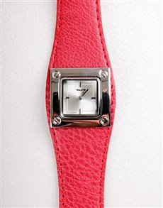 Tomato Ladies Watch with Red Strap