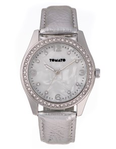 watches: Tomato Mother Of Pearl Ladies Silver Watch!