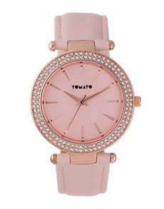 gifts: Tomato Ladies Sandy Rose Gold 38mm Round Watch!
