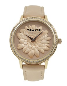 gifts: Pink 3D Floral Design Tomato Watch!