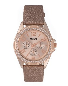 gifts: Tomato Ladies Rose Gold and Sparkles Watch!