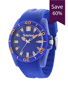 jewellery: Timberland Dunbarton Blue Top Ring Gents Watch!