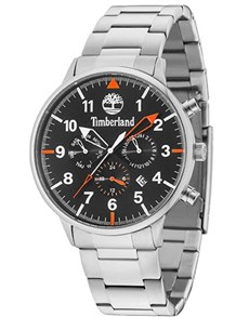 watches: Timberland Rutherford Pure Steel Black Watch!