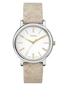 watches: Timex Originals Tan Linen Modern Watch!