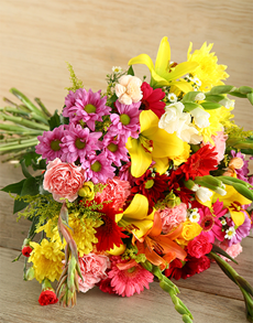 flowers: Mixed Bouquet of Bright Flowers!