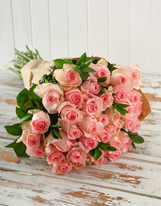 flowers: Pink Rose Bouquet!