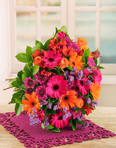 flowers: Bright Gerbera and Rose Bouquet!