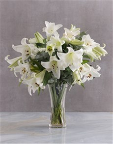 flowers: Elegant White Lilies Vase!