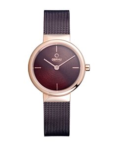 watches: Obaku Rose Gold and Brown Ladies Watch!