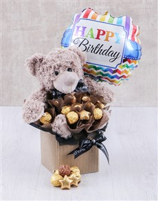 Birthday Choc and Teddy Arrangement