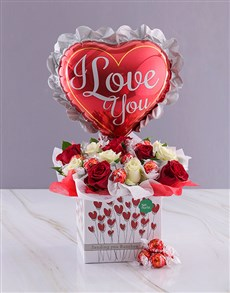 gifts: I Love You Roses and Chocolate!
